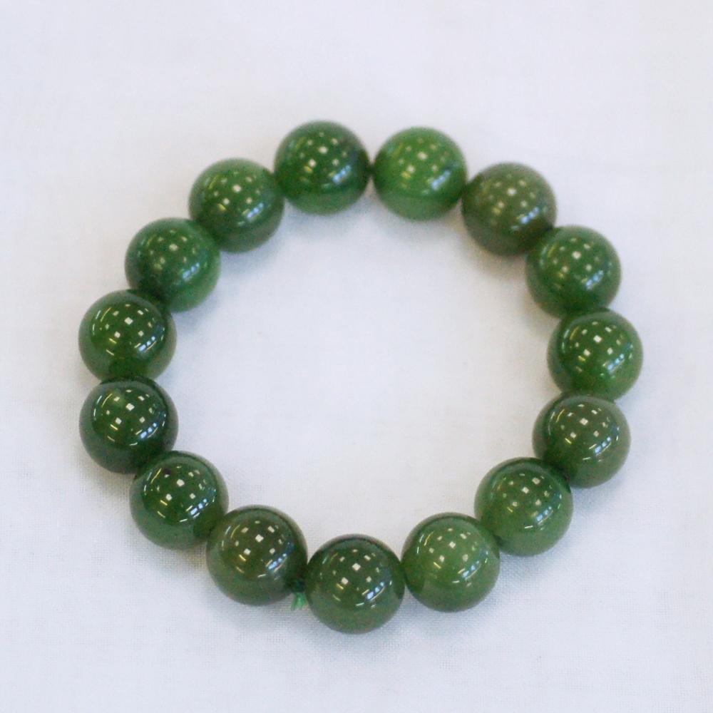 Браслет изнефритаярко-зеленогоцвета высокого качества