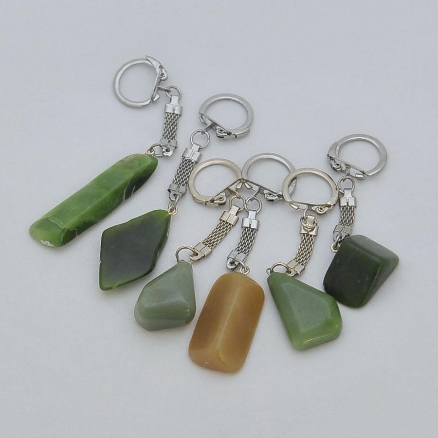 Брелкикрупные из зеленого нефрита различных оттенков