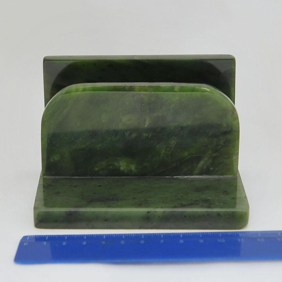 Подставка под бумагу из ярко-зеленогонефрита