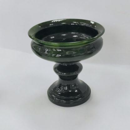 Нефрит ваза-конфетница#02-6-10